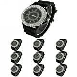 WLM 10pcs New Classic Gel Silicone Crystal Men Lady Jelly Watch Gifts Stylish Fashion Luxury