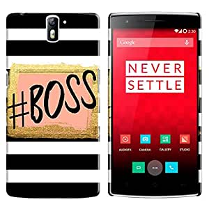Theskinmantra Boss Back cover for One Plus One