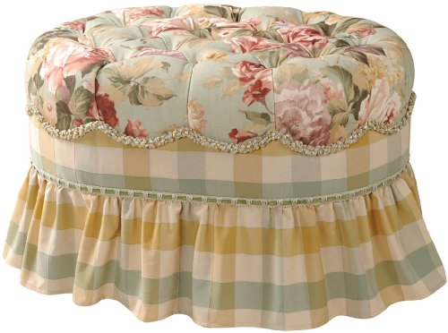 Jennifer Taylor Chesapeake Oval Ottoman, Multi Sage Green