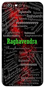 Raghavendra (Another Name For Lord Rama) Name & Sign Printed All over customize & Personalized!! Protective back cover for your Smart Phone : Samsung Galaxy S5mini / G800