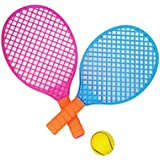 Vaibhav Plastic Tennis Racket And Ball Sports Toy With 2 Colours Boys, Girls Tennis Racquet