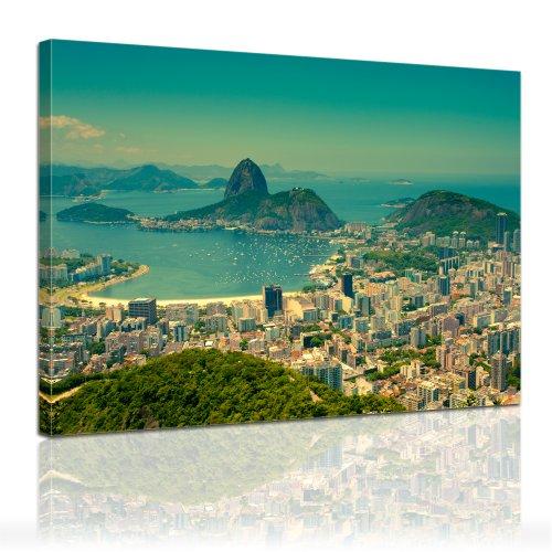 """Bilderdepot24 impression sur toile """"Ausregard Rio De Janeiro"""" (Brésil) 80x60cm - toile tendue sur châssis bois, vente directe fabricant!"""