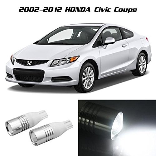 Partsam White Backup Reverse Light 921 912 Projector Lens Cree Chip For Honda Civic Coupe 2002 2003 2004 2005 2006 2007 2008 2009 2010 2011 2012 (Honda Accord Coupe 2000 compare prices)