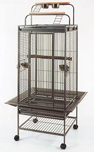 2 Color, New Large Play Top Bird Cage Parrot Finch Macaw Cockatoo Bird Wrought Iron Cage