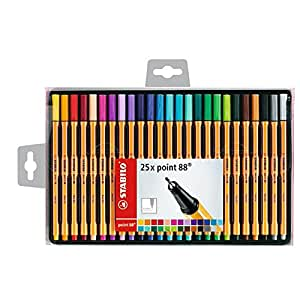 Stabilo Point 25 Stylos-feutres 0,4 mm Couleurs assorties