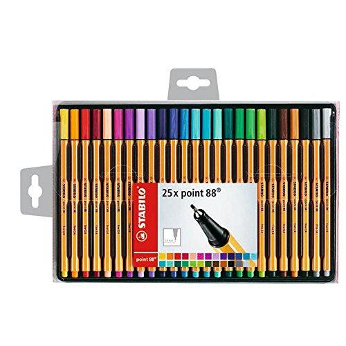 stabilo-point-88-coffret-de-25-stylos-feutres-pointe-fine-coloris-assortis