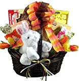 Bunny Flop! Gourmet Easter Gift Basket with Plush Bunny -Large