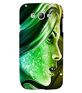 ColourCraft Beautiful Lady Face Design Back Case Cover for SAMSUNG GALAXY GRAND I9082