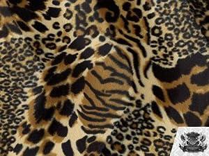 Velboa Faux / Fake Fur MIXED ANIMAL Fabric By the Yard