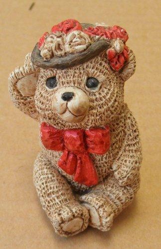 Decorative Stone Critter Littles Teddy Girl Figurine