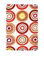 Tapis a Porter Alfombra Vision Bonita Naranja/Rojo 120 x 180 cm