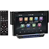 BOSS Audio BV8974B In-Dash Single-Din 7-inch Motorized Detachable Touchscreen DVD/CD/USB/SD/MP4/MP3 Player Receiver Bluetooth Streaming Bluetooth Hands-free with Remote
