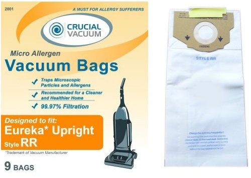 Eureka Style RR 9 Pack Allergen Filtration Vacuum Bags - Compare With Eureka Part # 61115, 61115A, 61115B