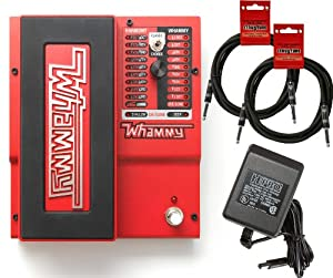 Digitech Whammy 5 Multi-Effects Pedal Bundle w/4 Free Cables
