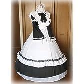 ロングメイド服 Lサイズ  ウェディングパニエ  ワイヤーボーン5層付 コスプレ 大きいサイズ 男性用メイド服 メンズメイド服