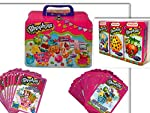 Awesome & Adorable Shopkins Collectible Large Tin Box Featuring the Addicting Top Trumps Collectors Tin Who's the Super Shopper Card Game. After all, Once you Shop, You Can't Stop! The Large Tin Box can double as a lunch box with 3D Molded Dozens...