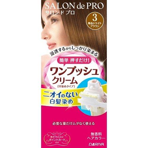 サロンドプロ ワンプッシュクリームヘアカラー 3