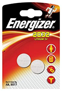 Energizer CR2032 Coin Lithium Battery Pack of 2 ENG2032B2