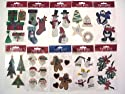 39XXX-PE-101 Christmas Paper Bliss 10 packs Festive Themed Embellishments for Card Making and Scrapbooking. Self Adhesive, Beautifully Crafted Card Toppers - Contains Christmas Trees, Snowmen, Reindeer, Presents and Gifts, Decorations, Stockings, Holly and more