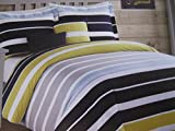 Boy Zone 4 Piece Reversible Stripe Comforter Set with Pillows Twin