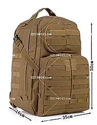 40L Outdoors Sport Military Tactical Backpacks Molle Rucksacks Camping Hiking Trekking Bag