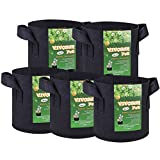 VIVOSUN 5-Pack 2 Gallons Fabric Pots Grow Bags with Handles