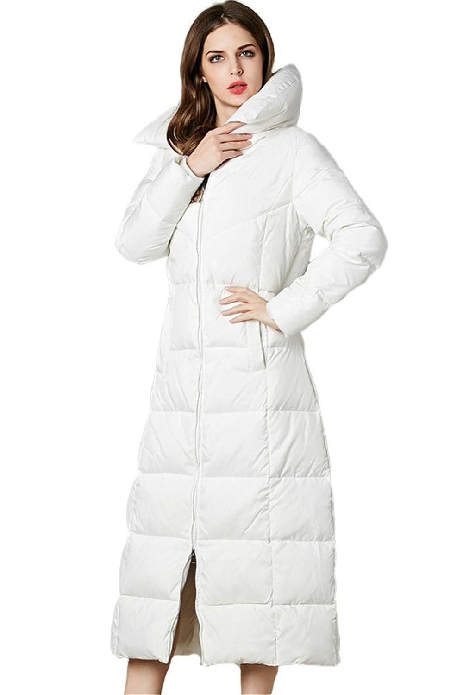 queenshiny Damen Lange Daunenjacke Gänsedaunen Mantel Jacke unterhalb der Knie Mode Winter online bestellen