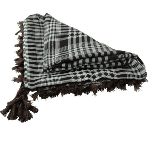 Buy Bargain MAX 46x46Brown White Shemagh Arab Tactical Desert Scarf Keffiyeh