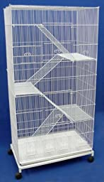 Brand New Bird Sugar Glider Ferret Cage On Wheels 30x18x59, WHT