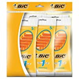 BiC 1 Sensitive Mens Single Blade Disposable Shaver 5 Packs of 5