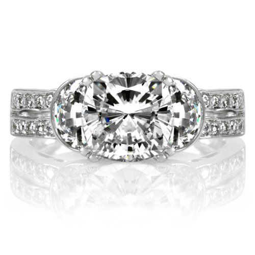 Macyn's CZ Cushion Cut Engagement Ring - 2.5ct