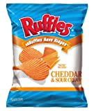 Ruffles Potato Chips, Cheddar Sour Cream, 1.875 Ounce (Pack of 36)