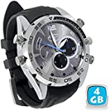 MONTRE CAMERA ESPION ELEGANCE FULL HD 1080P A VISION NOCTURNE 4 GO - YONIS