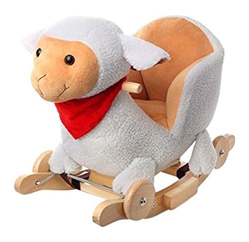 Balançoire mouton à bascule avec roues type cheval à bascule avec effets sonores
