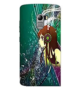 PrintDhaba Music Girl D-4387 Back Case Cover for LENOVO K4 NOTE A7010a48 (Multi-Coloured)