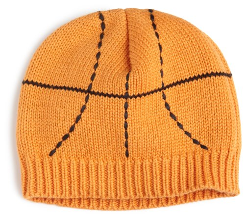 Mud Pie Baby-boys Newborn Basketball Cap, Orange/Black, 0-6 Months
