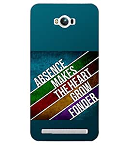 PrintDhaba QUOTE D-6141 Back Case Cover for ASUS ZENFONE MAX ZC550KL (2016) (Multi-Coloured)