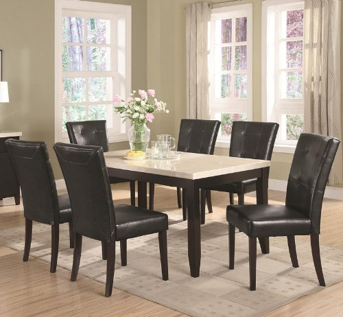 Pleasant Reviews Of 7 Piece Dining Set Faux Marble Top Anisa Home Interior And Landscaping Ologienasavecom