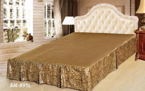 Tache Golden Noodle Bed Skirt-Cal King back-5892