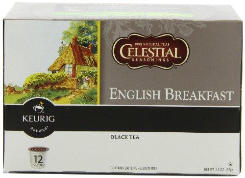 Celestial Seasonings English Breakfast Tea, K-Cup Portion Pack For Keurig K-Cup Brewers, 12-Count (Pack Of 3)