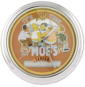 The Simpsons Illuminating Wall Clock - Moe's Tavern Design