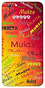 Mukta (Liberated, pearl) Name & Sign Printed All over customize & Personalized!! Protective back cover for your Smart Phone : Samsung Galaxy E-7