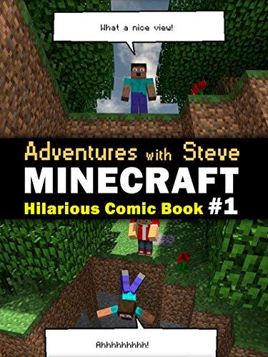 "AIG Guy - Minecraft: ""Adventures with Steve"" Minecraft Hilarious Comic Book (Minecraft Joke, Minecraft Joke For Kid, Minecraft Comic Book, Minecraft Books, Minecraft Comics, Minecraft Novel)"