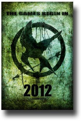 Hunger Games Poster - Promo Flyer 2012 Movie - 11 X 17 - GreenLogo