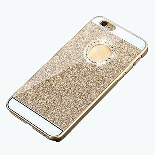 Amison per iPhone 6, Diamante Cristallo Unico Pura Colorato Strass Custodia/Cover (Oro)