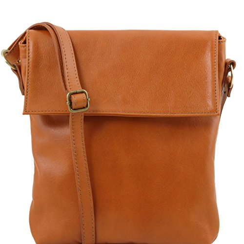Tuscany Leather Morgan - Borsa a tracolla in pelle Cognac