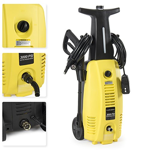 ARKSEN 3000 PSI Burst Power Electric High Pressure Washer 2000 Watt Motor, YELLOW (Electric Powered Pressure Washers compare prices)