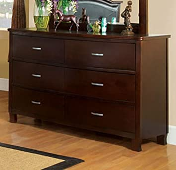 Crest View Brown Cherry Finish Bedroom Dresser
