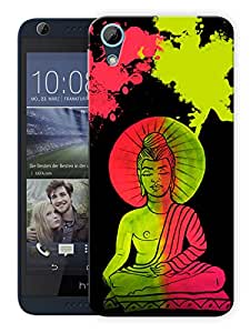 "Humor Gang Buddha Neon Art Trippy Printed Designer Mobile Back Cover For ""HTC DESIRE 626"" (3D, Matte, Premium Quality Snap On Case)"