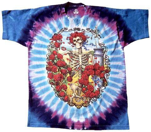 Liquid Blue Men's Grateful Dead 30Th Anniversary Short Sleeve Tee,Multi,X-Large